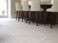 Luberon antiqued stone flooring - Project - Worcester click now to see more. Flagstone Flooring, Limestone Flooring, Ceramic Flooring, Cozy Kitchen, Kitchen Redo, Kitchen Remodel, Kitchen Design, Unique Flooring, Flooring Ideas