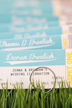 Wedding Decor: Baseball Themed Wedding // Photo via Every Last Detail