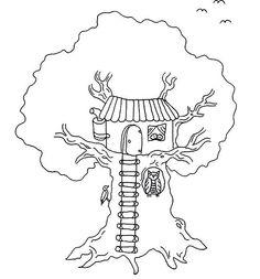 Häuser Ausmalbilder. Malvorlagen Zeichnung druckbare nº 8
