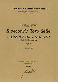 Il secondo libro delle canzoni da suonare a tre op. 9 (Venezia, 1639)
