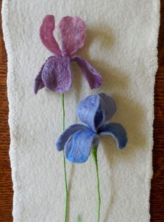 Iris  Felted Flower  create your own by SPRIGSfeltedflowers, $14.00
