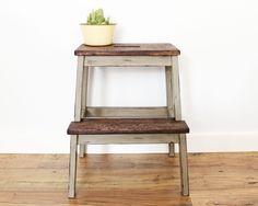 Ikea stool Old world chalk paint