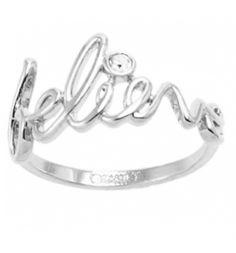 Platinum Plated Believe Ring