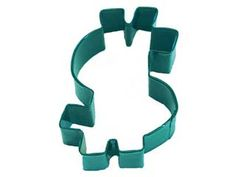Dollar Sign Cookie Cutter Green