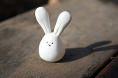 Kawaii Quirky Bunny Clay Charm Pendant by MikaMakes on Etsy, $3.00