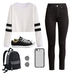 """Untitled #42"" by rosekimmy on Polyvore featuring Converse, NIKE, Casetify and Ray-Ban"