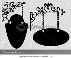 vintage wrought iron signs