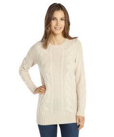 Hayden canvas heather cashmere cable sweater | BLUEFLY up to 70% off designer brands