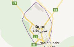 Sirjan Iran: carte