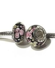 Zable Purple Drop with Silver Accents with Clip Bead//Charm