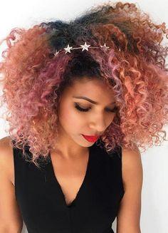 Resultado de imagen de colores pelo invierno 2017 afro rosa