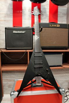 Brand New ESP/LTD HEX-7 Nergal Behemoth Signature Flying V Guitar