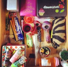 Every stoner should have a bad things drawer. Puff And Pass, Pipes And Bongs, Stoner Girl, Smoking Accessories, Smoking Weed, Ganja, Trippy, Cannabis, Pipes