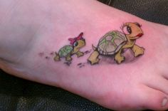 Or this one with two little baby girl turtles