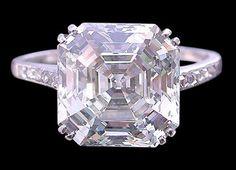 3 ct.pink asscher diamond engagement ring by diamondsfromnewyork