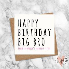 Funny Big Brother Birthday Card