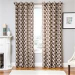 Bali Tile Curtain Drapery Panels in 5 colors - lined and interlining options with grommets, back-tabs or rod pocket - contemporary window treatments