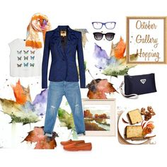 """""""October Gallery Hopping"""" by cinnamonhh on Polyvore"""