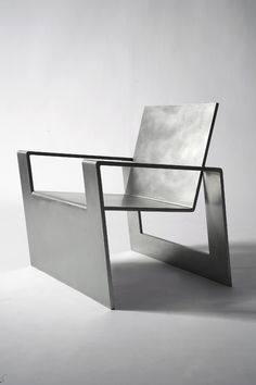 steel furniture Forrest Myers, Manifold, stainless steel chair (edition of Industrial Furniture, Cool Furniture, Furniture Design, Furniture Removal, Furniture Online, Furniture Ideas, Table Design, Chair Design, Metal Chairs