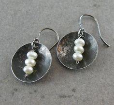 Vintage Tin Discs Pearls