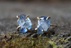 Raw Sapphire Stud Earrings – Alexis Russell