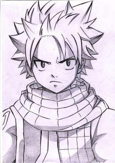 Resultado de imagen para natsu dragneel dibujo