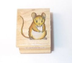All Night Media little mouse rubber stamp 575D wood mounted vintage 90's mice