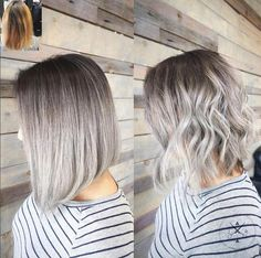 We can't get enough silver! On pre lightened level 9 hair, Jeffrey Robert used (base) #KenraColor Demi-permanent 4A, 7SM + 10 volume. Midstrand: 8SM + 10 volume. Ends: 10SM + 10 volume. #MetallicObs