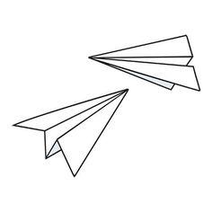 New Origami Tattoo Plane Tatoo 34 Ideas Paper Airplane Drawing, Paper Airplane Tattoos, Paper Plane Tattoo, Paper Planes, Origami Paper Plane, Origami Ball, Origami Tattoo, Origami Design, Holz Tattoo