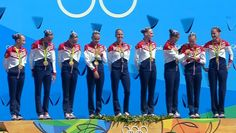 Russia's synchronized swimming team accepts gold medals