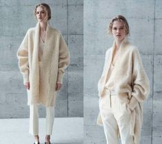 Pure white cashmere white loose simple coat