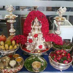 drawings of hand Diy Diwali Decorations, Festival Decorations, Ganesh Chaturthi Decoration, Silver Pooja Items, Ganapati Decoration, Pooja Mandir, Pooja Room Door Design, Hindu Wedding Ceremony, Silver Lamp