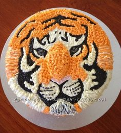 This  Bengal Tiger cake is not something I would recommend for a beginner when it comes to using a piping bag. I saw an image of an extremely simila...