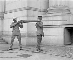 A Punt Gun, used for duck hunting but were banned because they depleted stocks of wild fowl, 1920's.