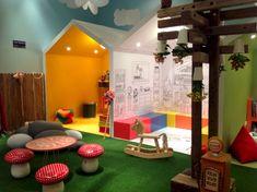 Kids playground design must have safety, goal, and theme. Here are several considerations before constructing a playground. Playground Design, Indoor Playground, Daycare Design, Kindergarten Design, Home Daycare, Kids Play Area, Kids Corner, Kid Spaces, Play Houses