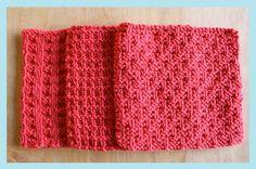 Three Dishcloths - Little Red Mitten