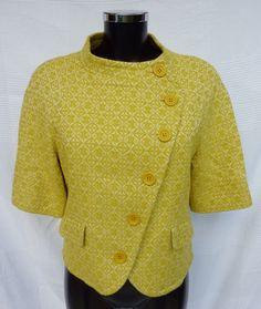 Veste courte femme Vert anis MANOUKIAN (années 90) Taille S (36) de la boutique TheNuLIFEshop sur Etsy