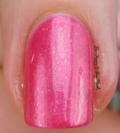 Sinful Colors Bayou Babes Flambeaux Pink macro   Be Happy And Buy Polish https://behappyandbuypolish.com/2017/04/06/sinful-colors-bayou-babes-nail-polish-collection-swatches-review/