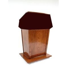 Executive Wood Presidential Plus Non Sound Full Podium Fabric Color: Red, Wood Species: Walnut, Finish: Natural Walnut