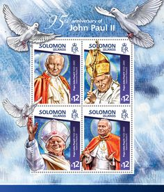 Post stamp Solomon Islands SLM 15114 a95th anniversary of John Paul II (1920–2005. Ioannes Paulus II)