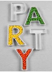 PARTY Letter Dish Set