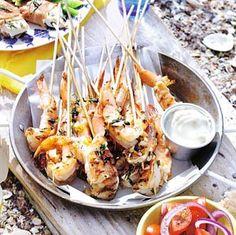 Siciliaanse knoflookgarnalen (Sicilian garlic shrimp) -- maybe for my bday?