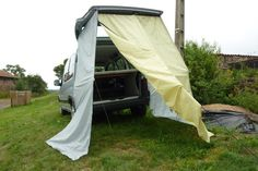 Aménagement Partner - Berlingo Tailgate Tent, Minivan Camping, Micro Campers, Going Out, Vans, Sticks, Box, Automobile, Truck