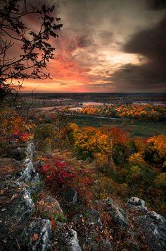 """Autumn Sunrise,"" Rattlesnake Point, Milton Ontario, photo by John Ryan from '500px is Photography'"