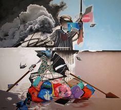 "Saatchi Art Artist: MOHAMMED SAMI; Acrylic 2014 Painting ""Death Guards"""