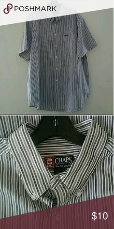 Chaps Ralph Lauren striped shirt XL Excellent pre-loved condition Chaps Shirts Casual Button Down Shirts