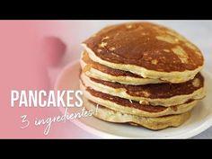 PANCAKES DE AVENA PERFECTOS | SÓLO 3 INGREDIENTES | AUXY - YouTube Pancakes No Milk, Greek Yogurt Pancakes, Low Carb Pancakes, Chocolate Chip Pancakes, Pancakes Easy, Almond Pancakes, Pancake Roll, Pancake Toppings, Cinnamon Roll Pancakes