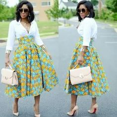 African Fashion African Print Ankara Styles For Women African Print Skirt, African Print Dresses, African Print Fashion, Africa Fashion, African Fashion Dresses, African Dress, Boho Fashion, Ankara Fashion, Tribal Fashion