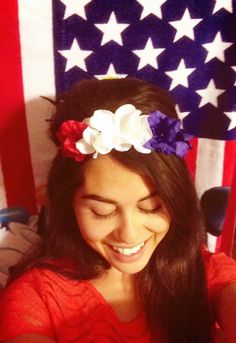 Fourth of July inspired Flower headband DIY