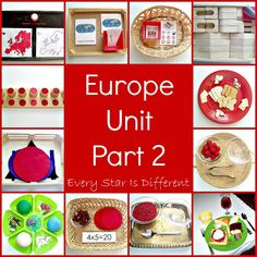 Every Star Is Different: Montessori-inspired Study of Europe w/ Free Printables